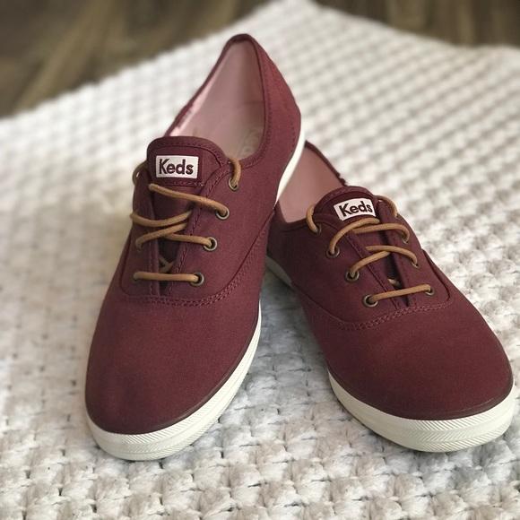 Burgundy Keds Sneaker Womans Sz Euc